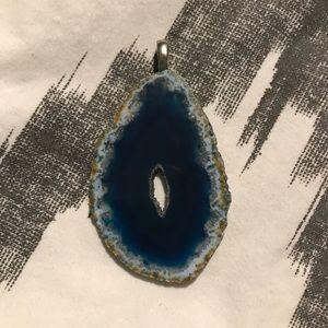 Jewelry - Blue Agate Geode Pendant